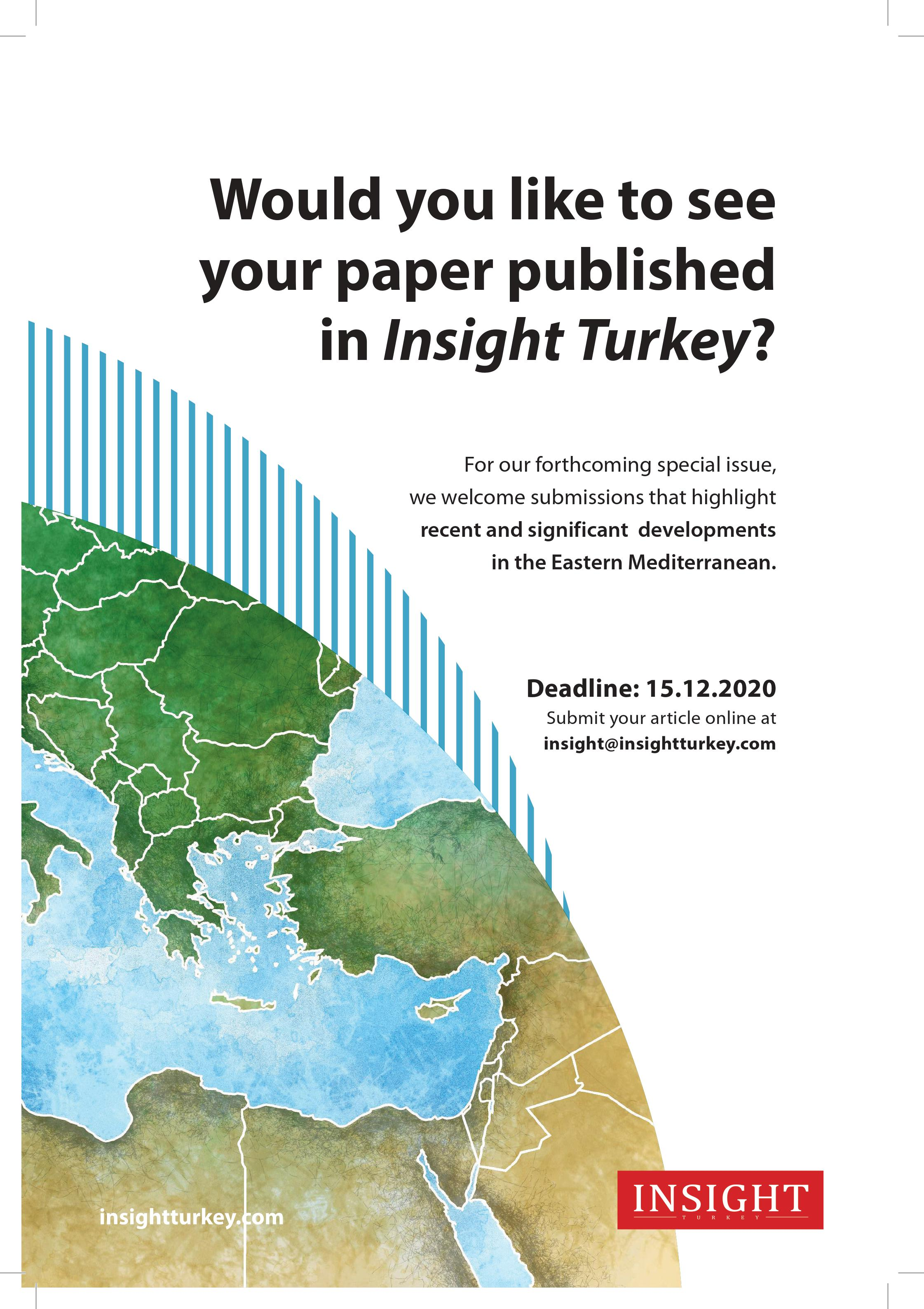 Call for Papers Eastern Mediterranean